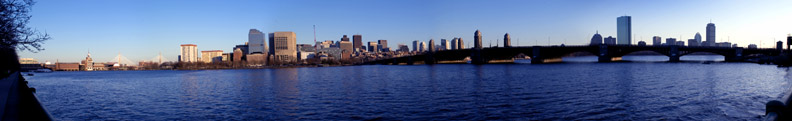 Photo of Boston skyline across the Charles River